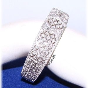 Judith Ripka 1.35ct Heart Estat Silver Bracelet